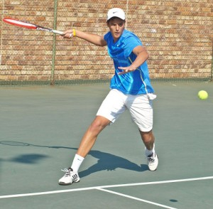 Fourth seed Jd Malan of Western Province on Wednesday at the Gauteng North Junior ITF. Malan beat fifth seed Calvin Jordaan also of South Africa 6-3 5-7 6-3 in the quarterfinals of the Gauteng North Junior ITF being played at the Groenkloof Tennis Stadium in Pretoria.
