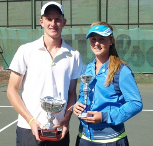 from left: Fourth seed Kris Van Wyk of Western Province and fifth seed Lee Barnard of Gauteng North were crowned the 2014 winners of the Wanderers Junior ITF in the boys and girls singles at the Wanderers Junior ITF on Friday. Lee003: Fifth seed Lee Barnard of Gauteng North, winner of the girls singles Wanderers Junior ITF 2014. Barnard beat unseeded Minette Van Vreden of Boland 6-2 6-2 to take the title on Friday.