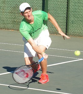 Kris: Fourth seed Kris Van Wyk of Western Province in action at the Wanderers Junior ITF on Friday. Van Wyk beat fellow South African unseeded Philip Franken 6-4 6-3 to take the title.