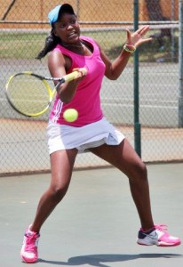 Nicole Dzenga of Zimbabwe was named top seed in the girls of the Wanderers ITF.