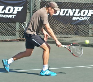Top seed Ruben Alberts of Gauteng North beat fifth seed Aidan Carrazedo of Gauteng Central in the men's finals of the Dunlop Classic at Elis Park on Saturday. Alberts beat Carrazedo 6-2 6-2 to take the title.