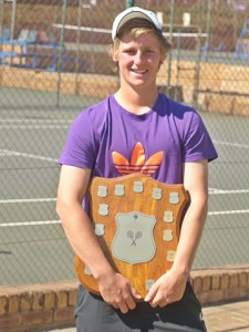 Second seed Francois Kellerman of South Africa, winner of the boys singles Gauteng North Junior ITF. Kellerman upset top seed Brandon Laubser also of South Africa 6-4 1-6 6-2 to take the title on Friday.