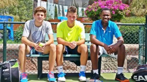The South African Junior Davis Cup Team in San Luis Potosi, Mexico from left, Damon Kesaris (KwaZulu-Natal), Calvin Jordaan (Western Province) and Richard Thongoana (Gauteng Central) Photo credit: Tennis South Africa