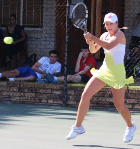 Second seed Zani Barnard of South Africa in the quarterfinals of the SAS ITF Junior 1. Barnard beat unseeded Summer Yardley of Great Britain 6-0 6-0 on Wednesday.
