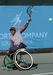 South African no.1 and world no.8 Kgothatso Montjane also known as 'KG' in action at the Airports Company South Africa SA Open super series event at Ellis Park in April 2015. Picture credits: Reg Caldecott
