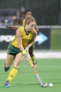 SA women's hockey team striker and penalty corner drag-flicker Lilian du Plessis scored five goals during her team's first match in the Greenfields Africa Hockey Championships on the Randburg Hockey Stadium turf in Johannesburg.