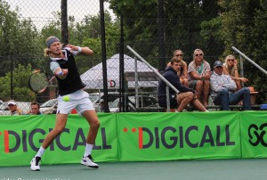 Second seed Nik Scholtz of South Africa on Thursday at the Digicall Futures 1. Scholtz beat unseeded Wesley Whitehouse of New Zealand  7-6 (2) 6-3 in round two at the Stellenbosch University.