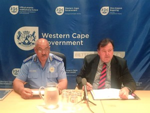 Minister Grant and Chief Africa at the Press Briefing