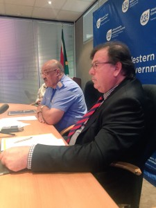 Minister Grant and Chief Africa at the Press Briefing on Easter Plans