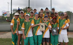 The South African team that took part in the 39th African Junior Championships played in Pretoria last week. The South African junior tennis team reclaimed their number one position in Africa when they won the team trophy of the 39th  ITF/CAT African Junior Championships which ended in Pretoria on Saturday.