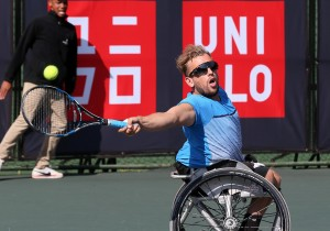 World number one Dylan Alcott will be chasing double glory in South Africa after he stunned local favourite Lucas Sithole 6-0 6-2 in the quads semi-final of the SA Open at Ellis Park Tennis Stadium in Johannesburg on Friday.