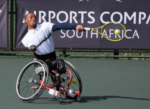 South African world number three Lucas Sithole saw world number one Dylan Alcott end his title defence at the SA Open on Friday after the Australian dispatched Sithole 6-0 6-2 at Ellis Park Tennis Stadium in Johannesburg