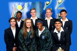 From left to right, back row; Khanya Ramokgopa, James Weatherhead, Hugh Morgan and Chao-Hong Peng. Front row; Juan-Louis Van Antwerpen, Cara O' Flaherty, Neo Mafuyeka and Sandil Bhikha.