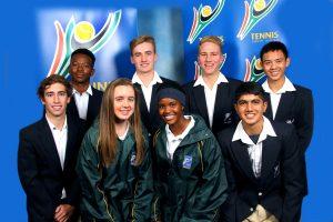 From left to right, back row; Khanya Ramokgopa, James Weatherhead, Hugh Morgan and Chao-Hong Peng. Front row; Juan-Louis Van Antwerpen, Cara O' Flaherty, Neo Mafuyeka and Sandil Bhikha.