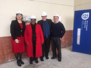 Sinenjongo Ministers Grant and Schafer with Principal Nopote and Mr Leon.