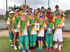 South African juniors team to represent South Africa in Tunisia.   Picture credit: Tennis South Africa.