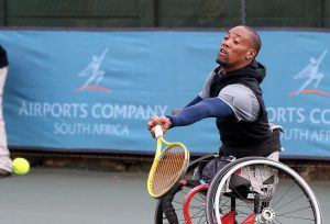 Wheelchair tennis ace Lucas Sithole named Sportsman of the year with a disability at the Regional Annual Sports Awards on Saturday night at Birchwood Estate in Ekurhuleni. Picture credit: Reg Caldecott