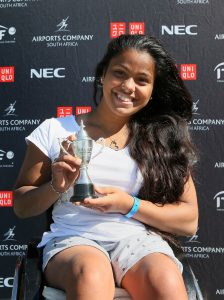 Fourth seed Nalani Buob from Switzerland has completed a magical fortnight of tennis with her finest performance of all, stunning top seed Mariska Venter to win her first Soweto Open title. The Swiss star ended Venter's hope with a 6-2 6-4 defeat to secure the title in the women's final at Arthur Ashe Tennis Center in Soweto on Sunday.