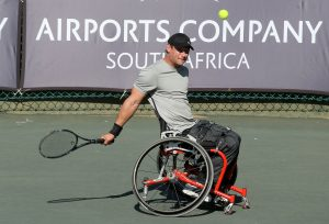 Top seed wheelchair tennis ace Leon Els clinched his fourth Soweto Open title with a 6-4 6-3 triumph over unseeded Thato Tsomole in the men's final at Arthur Ashe Tennis Center in Soweto on Sunday.