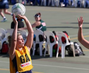 Maryka Holtzhausen of Free State in action against North West during day 4 of the 2016 Spar National Netball Championships at Hoy Park Sports Complex on August 11, 2016 in Durban, South Africa.