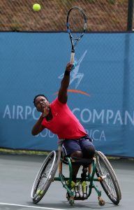 The country's leading wheelchair tennis player Kgothatso Montjane has been nominated for the Athlete of the Year with Disability at the SPAR Gsport Awards at the nominees announcement on Monday at Melrose Arch.