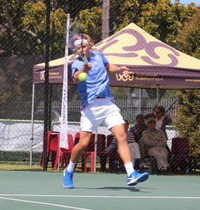 Lance-Pierre Du Toit of Boland, South Africa won through to Thursday's quarterfinals of the boys singles of the Curro ITF 1 being played at the Stellenbosch University.  Du Toit seeded 7 battled past fellow country man Rossouw Norval 7-5 4-6 7-5 in round 3 on Wednesday. Du Toit will now face 3rd seeded Ien Schouten of The Netherlands in the last eight.