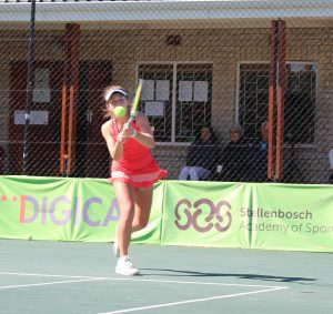 Megan Lombardi of South Africa won through to Thursday's quarterfinals of the girls singles of the Curro ITF 1 being played at the Stellenbosch University.  Lombardi seeded 8 battled past fellow country man Angela Georgieva 4-6 6-3 6-2 in round 2 on Wednesday. Lombardi will now face 4th seeded Adrienn Nagy of Hungary in the last eight.