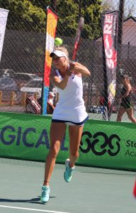 Adrienn Nagy of Mauritius, continued her winning streak on Friday at the Curro ITF 2 junior international tennis tournament being played at the Stellenbosch University.  Nagy ended the fine run of France's Diane Parry, unseeded, winning 7-5 6-3. In Saturday's final Nagy will come up against unseeded Holly Fischer of Great Britain.