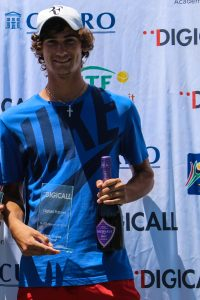 Second seed South African Lloyd Harris defended his men's singles title of the Digicall Futures 2 international tennis tournament played at Stellenbosch. Harris beat top-seed Jordi Samper-Montana of Spain 6-0 6-1.