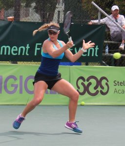 South African Fed Cup player, Ilze Hattingh upset 6th seed Jaeda Daniel of USA in the 1st round of the women's singles of the Digicall Futures 2 international tennis tournament being played at the University of Steelenbosch. Hattingh, unseeded, beat Daniel 6-4 6-3 to advance to the next round.