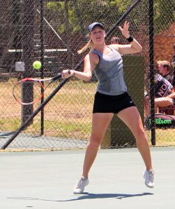 Unseeded Madrie Le Roux of South Africa upset 6th seed Jaeda Daniel of USA in round one of the women's Digicall Futures 3 international tennis tournament being played at Stellenbosch. Le Roux beat the American 6-0 7-5.