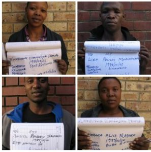 FOUR SUSPECTS SOUGHT FOR MURDER