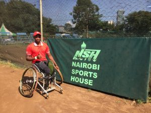 South African men's number 1 Evans Maripa after his victory at the Nairobi Open in Kenya on Wednesday