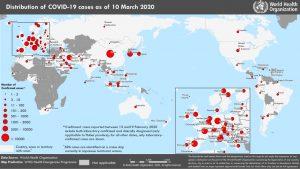 Coronavirus (COVID-2019) at 11 March 2020