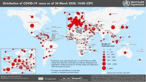 Coronavirus (COVID-2019) at 25 March 2020