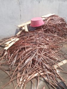 M E Sigasa (51) ARRESTED FOR POSSESSION OF STOLEN COPPER CABLES