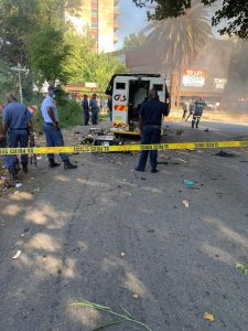 FOUR ALLEGED CIT ROBBERS FATALLY WOUNDED DURING A SHOOTOOUT WITH POLICE in JHB