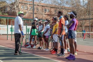 Yeoville tennis players in action